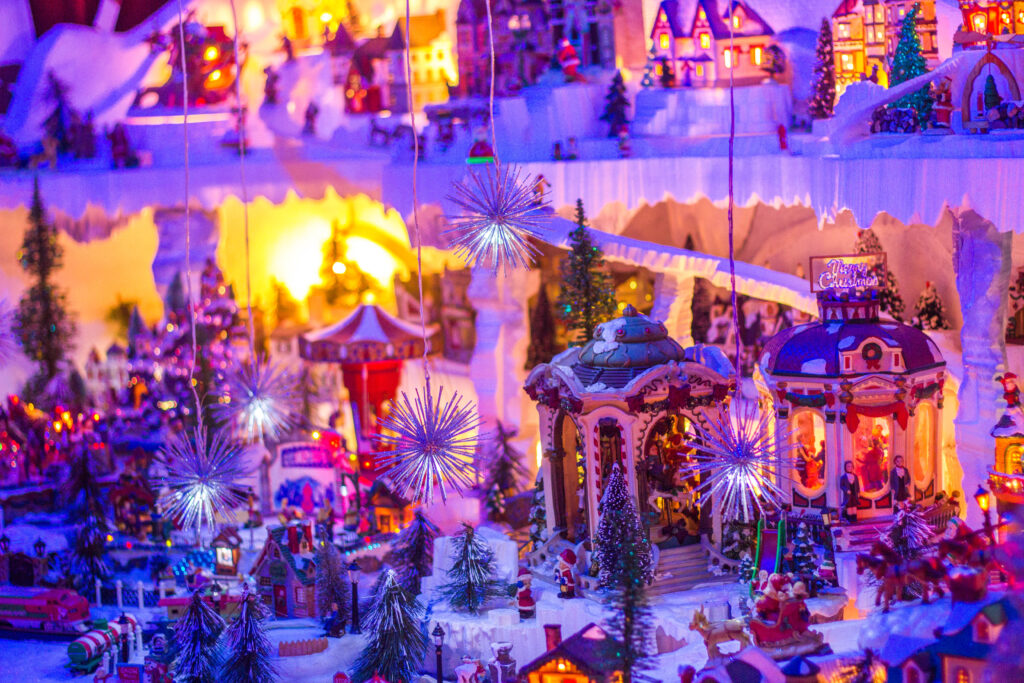 The christmas village at the casa santa
